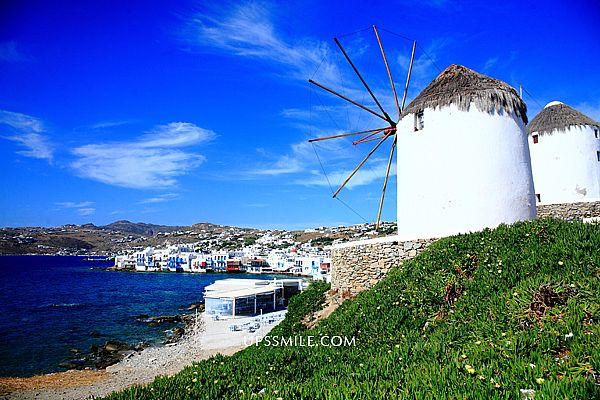 希臘自助行-卡特米利風車 (Windmills of Kato Myli)五風車,Mykonos島上欣賞日落取景時絕佳的地點,攝影人的影像天堂,米克諾斯拍攝夕情景點,世界100大必遊勝地