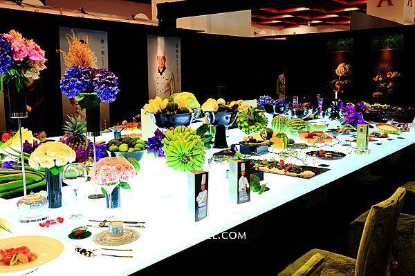 2015台灣美食展-玉石台灣,東方美學與國際美味相遇,源自花蓮山脈珍貴墨玉,化為美麗食器,40位名廚展現手藝與創意