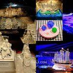 日本 鳥取砂美術館Tottori sand-museum,萍子推薦鬼斧神工日本沙漠,日本唯一使用砂為雕刻作品素材美術館,夜晚點燈光之藝術展覽,砂藝術,DIY玻璃體驗,鳥取觀光工廠,鳥取美術館 @upssmile向上的微笑萍子 旅食設影
