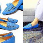 台灣鞋品牌-PUHU彪琥鞋職人靈魂(女)PUHU真皮編織尖頭樂福鞋A15F9654-藍,萍子推薦台灣在地品牌鞋設計,自己鞋款自己設計,PUHU LADY鞋款自訂款,合型合腳好設計的台灣在地品牌,網路買鞋,網路買鞋尺寸 @upssmile向上的微笑萍子 旅食設影
