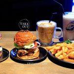 台北大安區Take Out Burger&Cafe美式漢堡,萍子推薦六張犁捷運站、通化街美食,工業風美式餐廳,通化夜市,特製漢堡,信義區美食 @upssmile向上的微笑萍子 旅食設影