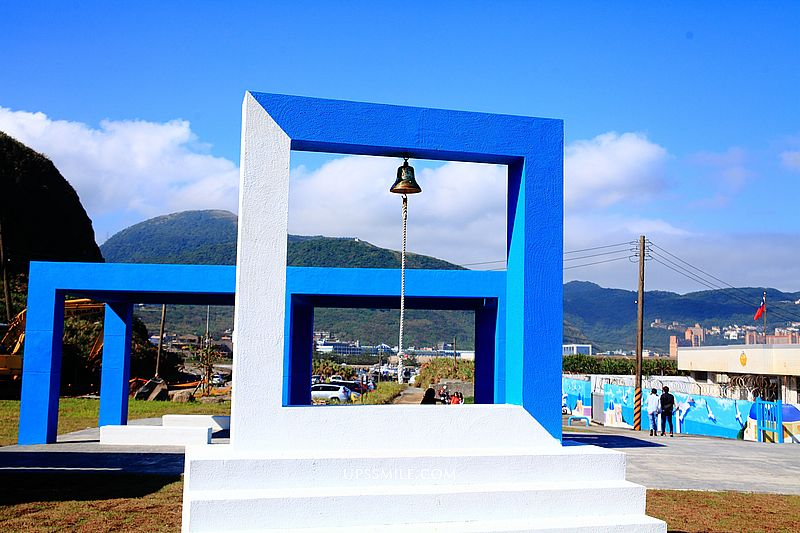 萬里幸福廣場,北海岸最新打卡景點,一秒到希臘藍白地中海景點3D彩繪,遠眺基隆嶼美景,萬里景點必去 @upssmile向上的微笑萍子 旅食設影