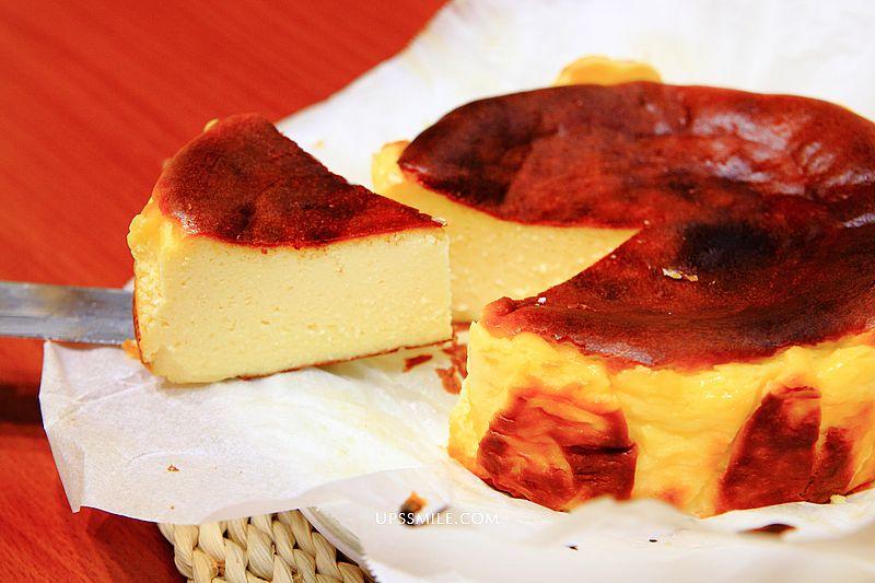 【甜點食譜】巴斯克乳酪蛋糕食譜,超簡單DIY巴斯克乳酪蛋糕6吋作法,2019年紐約時報年度甜品,表皮焦香內餡起司香,冰過更好吃 @upssmile向上的微笑萍子 旅食設影